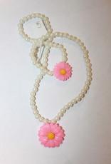 Ketting met wit bloem met armband