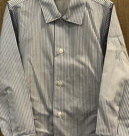 Mac Ilusion Mac Ilusion Overhemd blauw wit gestreept