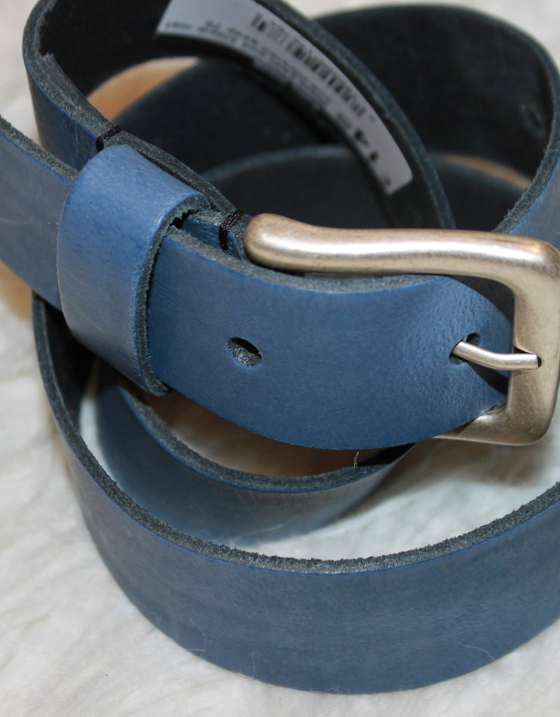 Villa Style Riem  Leer oud blauw met oud zilveren gesp