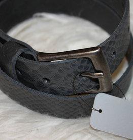 Oxxy Oxxy Riem blauw/grijs slang print