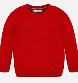 Mayoral Mayoral Basic cotton sweater w/round Red - 00323