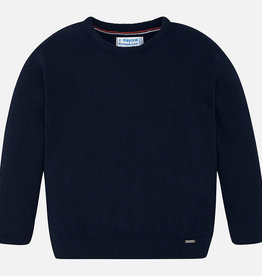 Mayoral Mayoral Basic cotton sweater w/round Navy - 00323