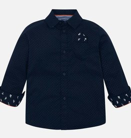 Mayoral Mayoral L/s printed shirt Navy - 04118