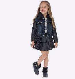 Mayoral Mayoral Leatherette pleated skirt Navy - 04909