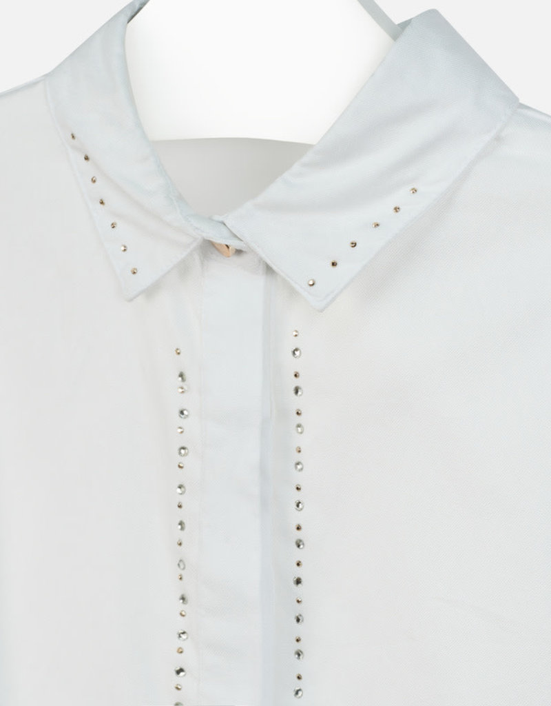 Mayoral Mayoral Oxford strass blouse Natural - 07104