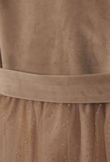 Mayoral Mayoral Velvet dress with tulle Beige - 07919