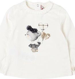 Boboli Boboli Stretch knit t-Shirt for baby girl white 708027