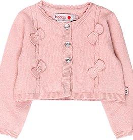 Boboli Boboli Knitwear jacket for baby girl pink 708230