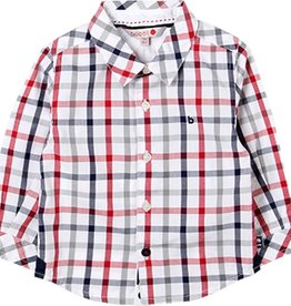 Boboli Boboli Poplin shirt check for baby boy checks 718006