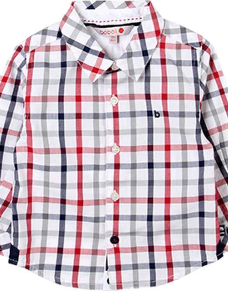 Boboli Boboli Poplin shirt check for baby boy checks 718006