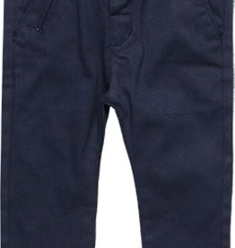 Boboli Boboli Stretch twill trousers for baby boy NAVY 718040