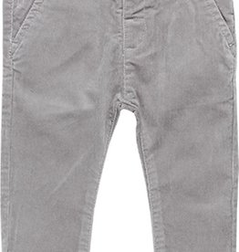 Boboli Boboli Microcorduroy trousers stretch for baby boy fog 718051