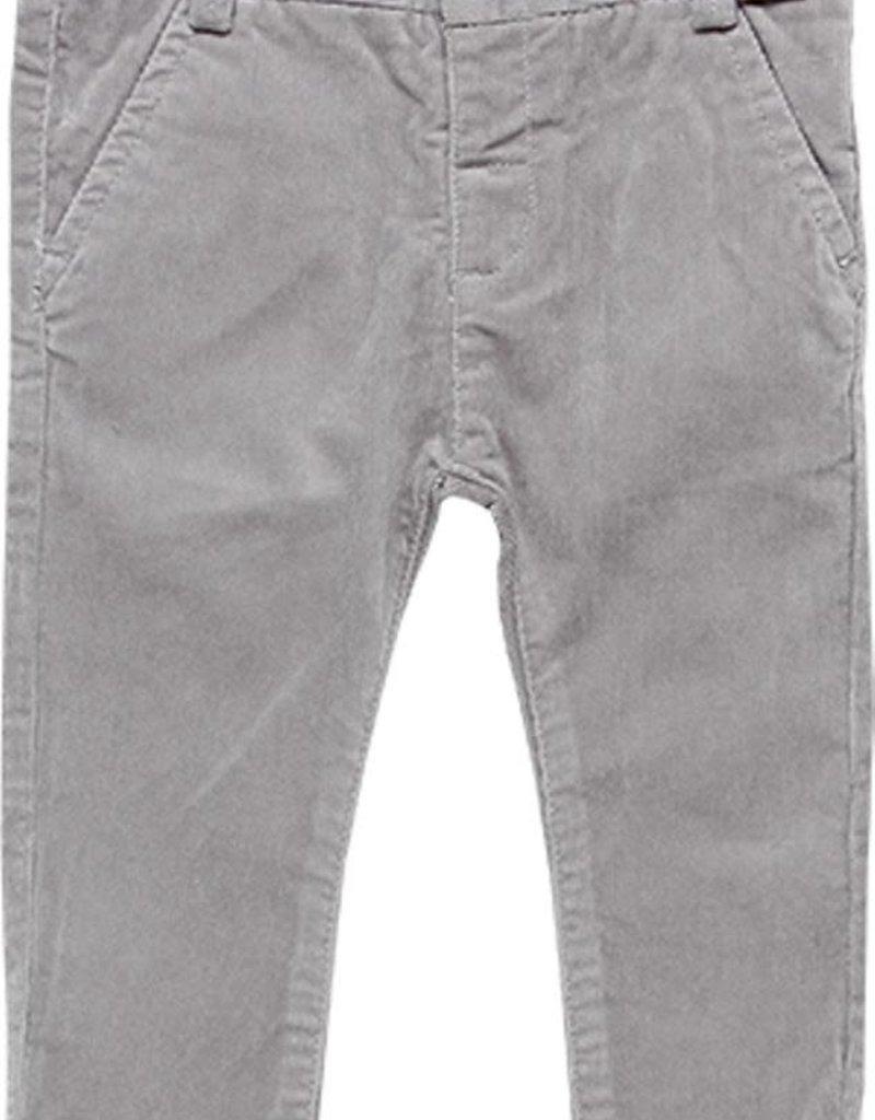 Boboli Boboli Microcorduroy trousers stretch for baby boy fog 718051