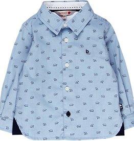 Boboli Boboli Oxford long sleeves shirt for baby boy print 718196