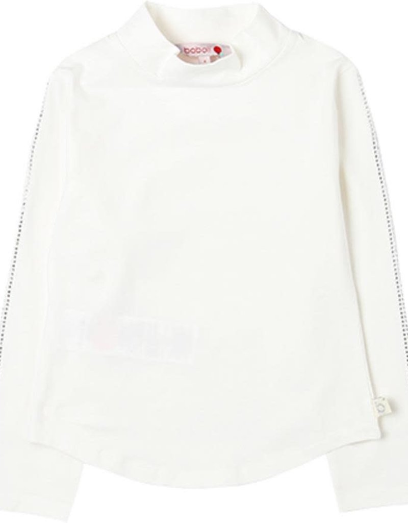 Boboli Boboli Stretch knit t-Shirt for girl white 728186
