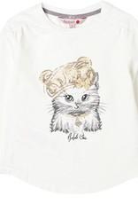 Boboli Boboli Stretch knit t-Shirt for girl white 728209