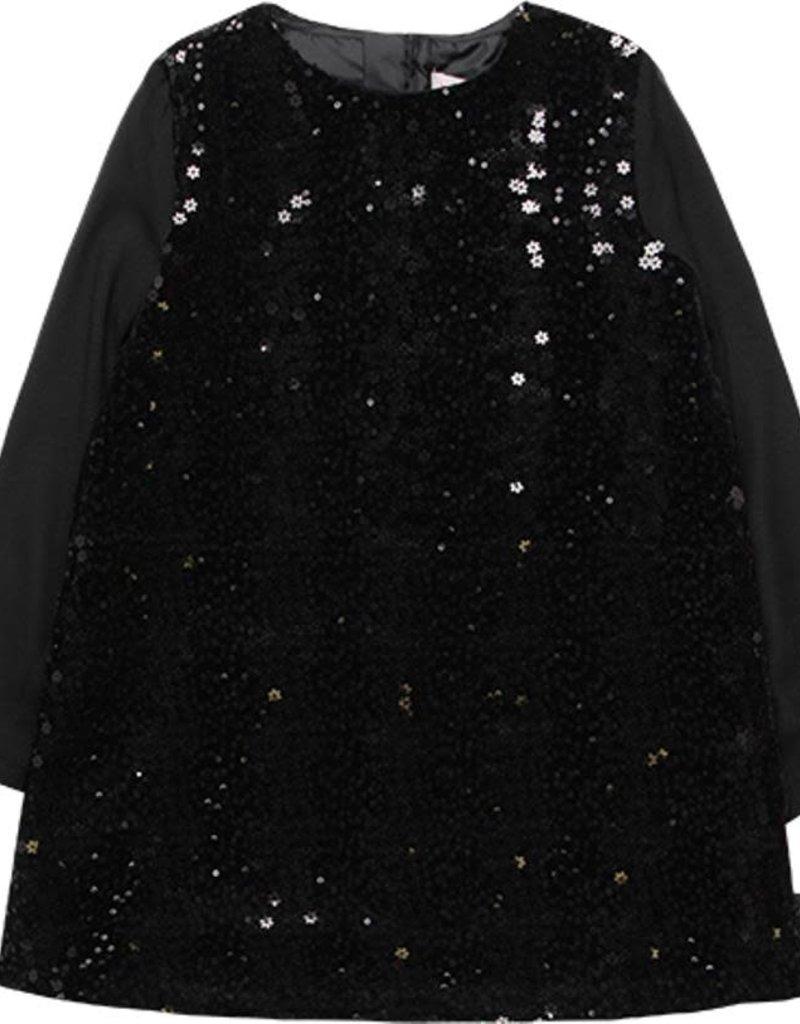 Boboli Boboli Velour dress for girl BLACK 728412