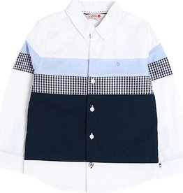 Boboli Boboli Poplin shirt for boy WHITE 738064