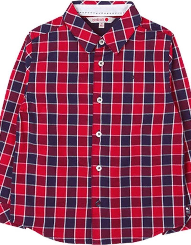 Boboli Boboli Poplin shirt check for boy checks 738097