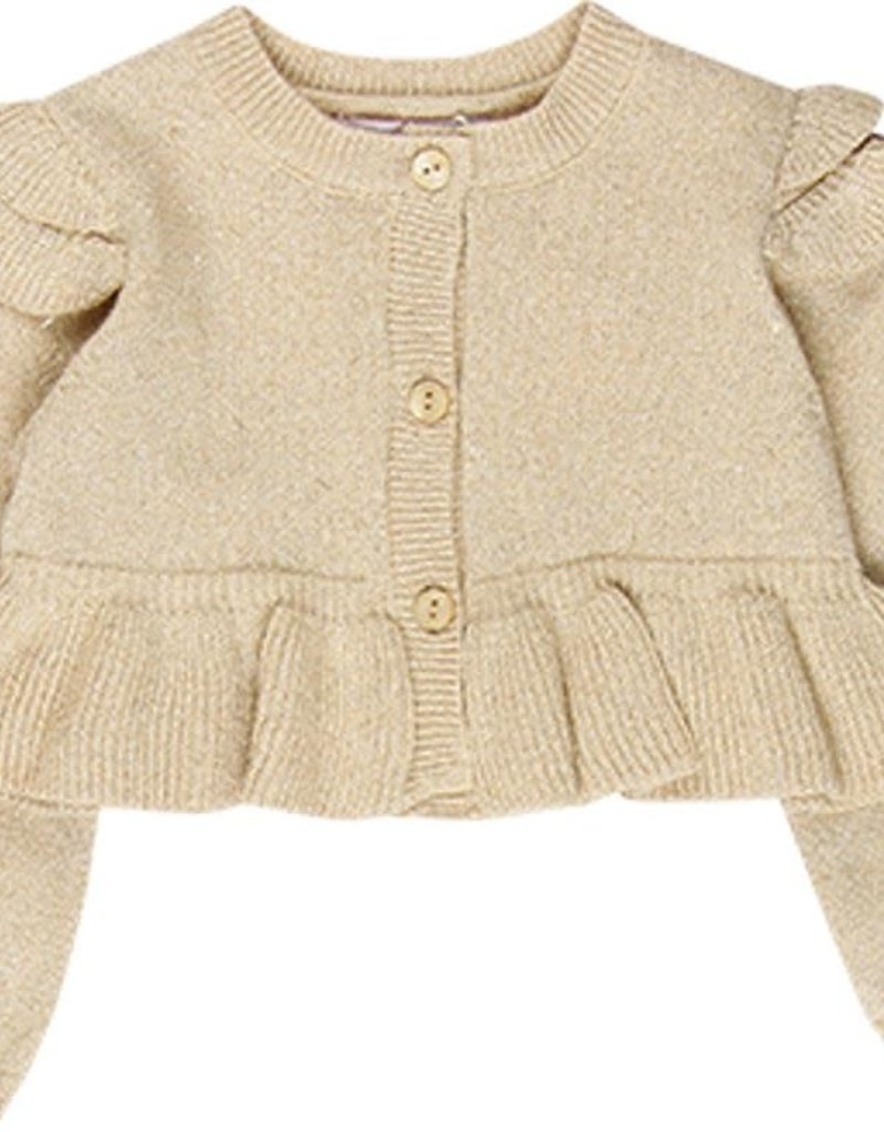 Boboli Boboli Knitwear jacket for baby girl beige 708072