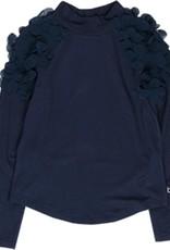 Boboli Boboli Stretch knit t-Shirt for girl NAVY 728063