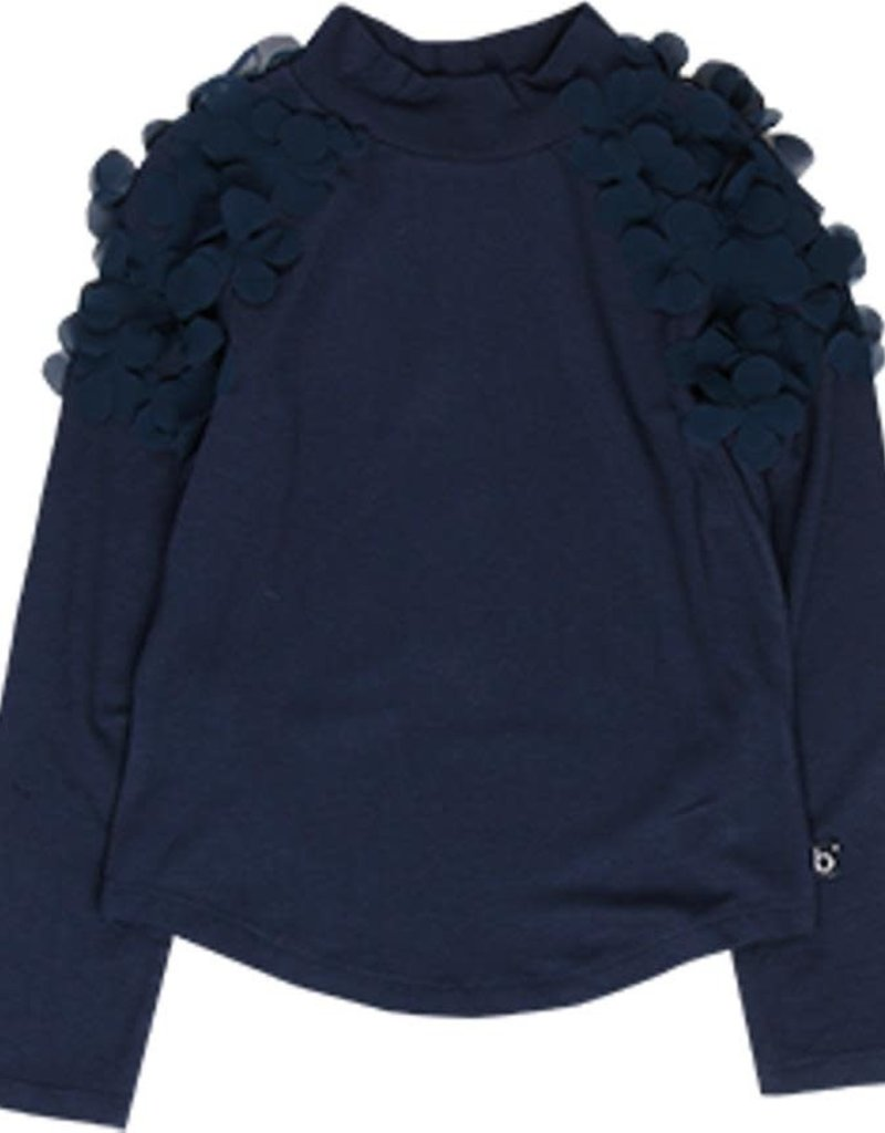 Boboli Boboli Stretch knit t-Shirt for girl NAVY 728063