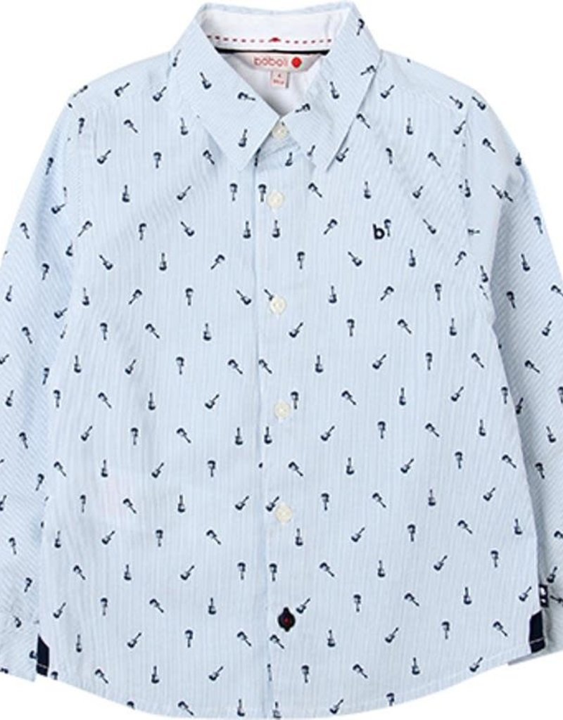 Boboli Boboli Poplin shirt for boy print 738053
