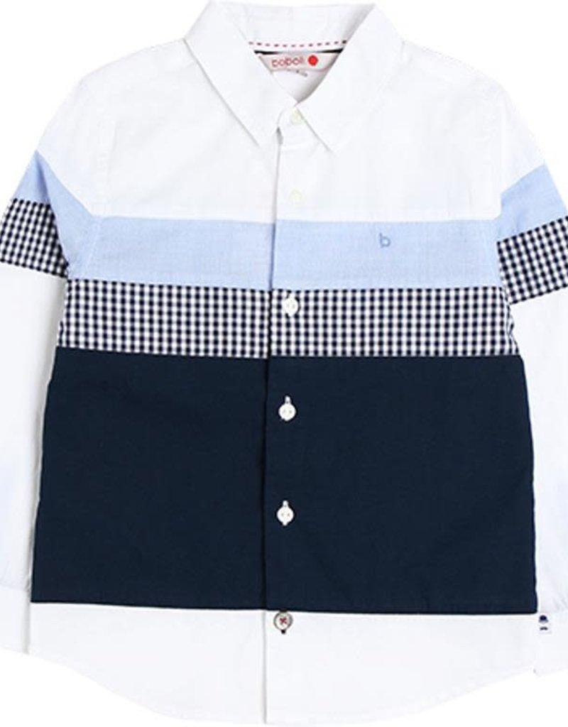 Boboli Boboli Poplin shirt for boy WHITE 738064