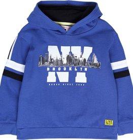 Boboli Boboli Fleece with hood sweatshirt for boy royal 518194