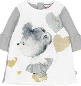 Boboli Boboli Combined dress for baby girl print 708050