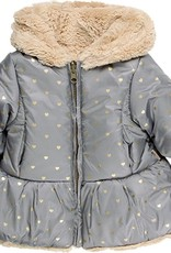 Boboli Boboli Reversible technical fabric parka for baby girl print 708106