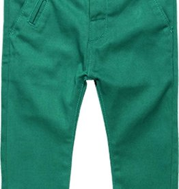 Boboli Boboli Stretch twill trousers for baby boy chlorophyll 718040