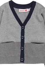 Boboli Boboli Knitwear jacket for baby boy fog 718242