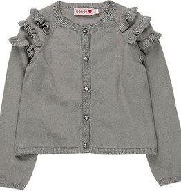 Boboli Boboli Knitwear jacket for girl fog 728041