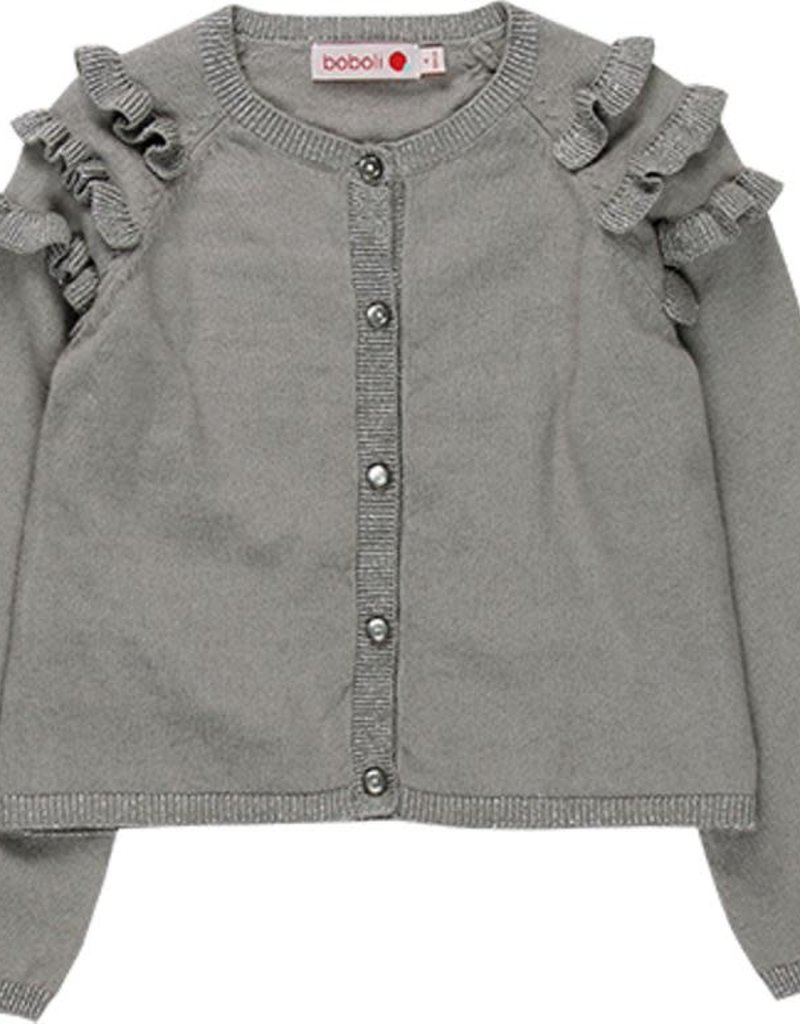 Boboli Boboli Knitwear jacket for girl fog 728041