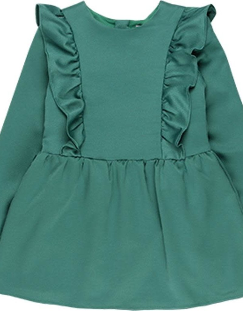 Boboli Boboli Satin dress fantasy for girl chlorophyll 728142