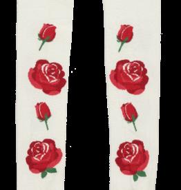A'Dee A Dee Maillots wit zwart met rode ROOS