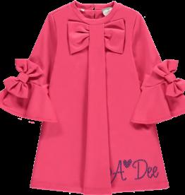 A'Dee ADee Jurk hard roze met wijde mouwen