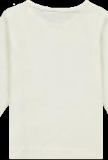 A'Dee ADee Shirt wit met ROOS  en glitters