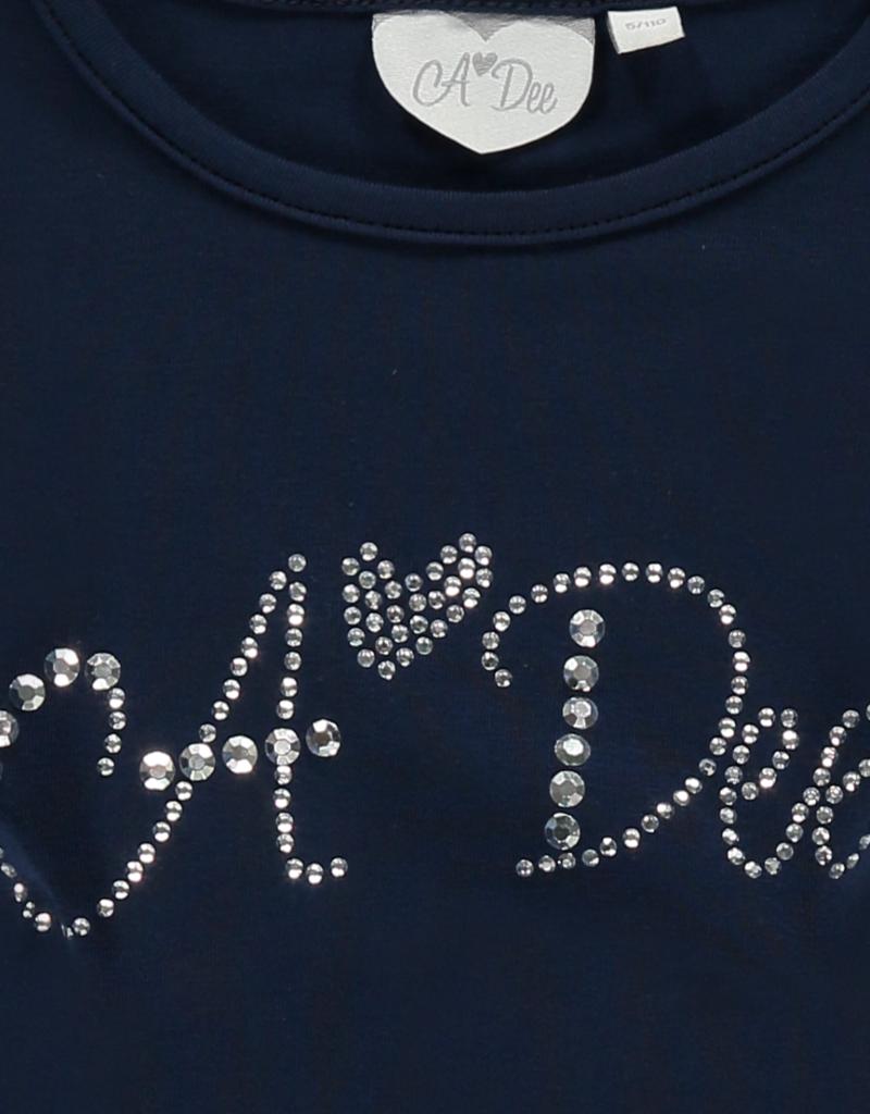 A'Dee ADee Shirt  donkerblauw met glitters