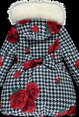 A'Dee ADee Jas met rozen en bontkraag