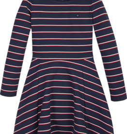 Tommy Hilfiger Tommy Hilfiger Dresses KG0KG046110A4 Black Iris/ Global Stripe