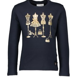 Le Chic Le Chic T-shirt golden mannequins C908-5470 Blue Navy