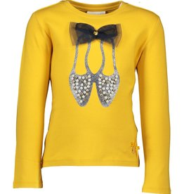 Le Chic Le Chic T-shirt ballet shoes & big bow C908-5477 Golden Honey