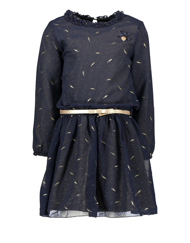 Le Chic Le Chic dress voile glitter lining C908-5830 Blue Navy