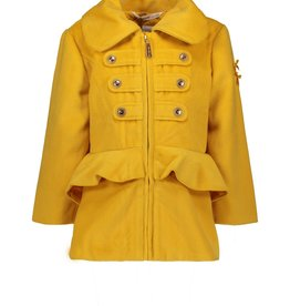 Le Chic Le Chic short felt coat with peplum C907-5215 Golden Honey