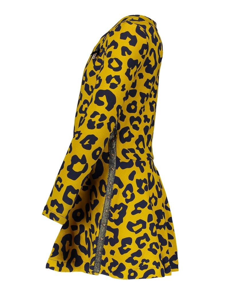 Le Chic Le Chic dress leopard spots C908-5808 Golden Honey