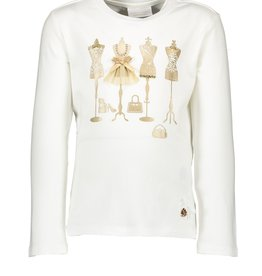 Le Chic Le Chic T-shirt golden mannequins C908-5470 Off White