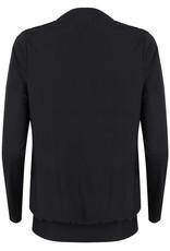 Jacky Jacky blouse zwart glanzend met strik