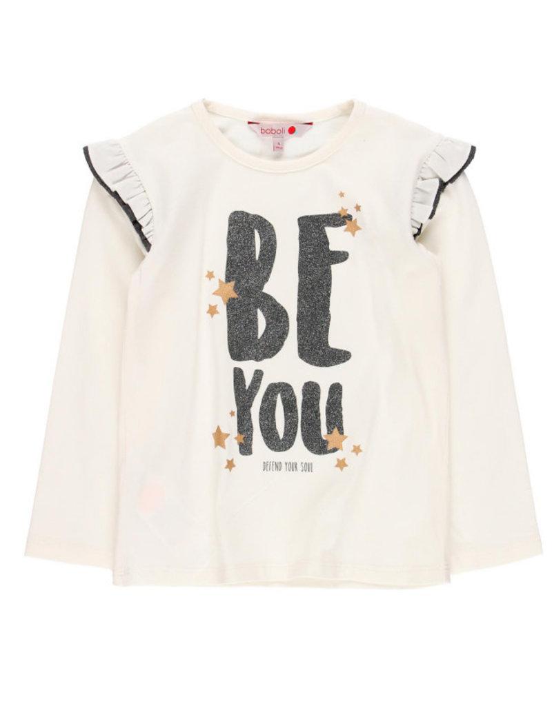 Boboli Boboli Stretch knit t-Shirt for girl white 468075